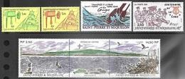 St Pierre Et Miquelon  1991   Heritage Strip & 4 Other Stamps MNH   2016 Scott Value $12.35 - Unused Stamps