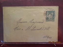 Lettre Entier Postal Au Type Sage à Destination De St Laurent D'Olt - Cartes Postales Types Et TSC (avant 1995)