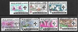 Malaysia/Sarawak  1965  Sc#228-34   Orchids Set Used   2016  Scott Value $7.30 - Malaysia (1964-...)