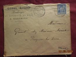 Lettre De 1890 à Destination De Pougues-les-Eaux - 1877-1920: Periodo Semi Moderno