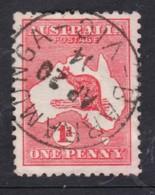 Australia 1913 Kangaroo 1d Red 1st Wmk Used - BARRAMUNGA, VIC - Usados