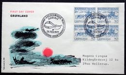 Greenland 1972 Cz.Slania  Conveyance Of Mail In Greenland - Dog Sledge Minr. 80 FDC ( Lot Ks ) - FDC