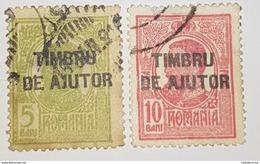 Roumanie Timbre N.40+N.41 Surcharge Timbru De Ajutor - Port Dû (Taxe)