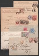 Lot 36 Lettres En Levée Exceptionnelle LI LATE FEE (LONDON, EASTCHEAPE, FENCHURCH St, THORMONGTON Av, TREADNEEDLE St, LI - 1840-1901 (Victoria)