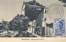 Carte  Maximum  1er  Jour  ALGERIE   Séisme  D' ORLEANSVILLE  1954 - Tarjetas – Máxima