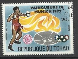 Tchad N° 275A   Vainqueurs Aux Jeux Olympiques De Munich  En 1972  Boxe   Stevenson   Cuba    Oblitéré TB   Soldé ! - Pugilato
