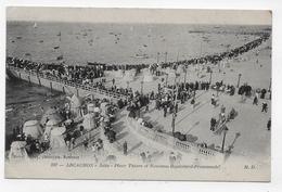 (RECTO / VERSO) ARCACHON EN 1914 - N° 397 - JETEE - PLACE THIERS AVEC PERSONNAGES - PETIT PLI ANGLE BAS GAUCHE - CPA - Arcachon