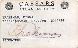 Caesars Casino - Atlantic City NJ - Paper Casino Guest ID Card From 1998 (blank Reverse) - Casinokarten