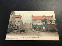 JAULGONNE Sortie De La Grande Rue (Fromages HUDIN BEAUDOIN) - 1905 Timbrée - France