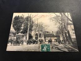 16 - NICE L'Avenue Malausséna Et Le Pont Du Chemin De Fer - 1910 Timbrée - Transport (rail) - Station