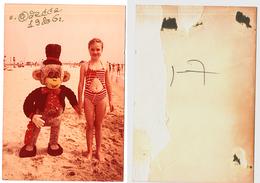 1986 Original 15x10 Photo Photography Vintage Child Girl Swimsuit Pants Teenager Beach Odessa USSR (5011) - Pin-Ups