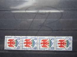 "VEND BEAUX TIMBRES DE FRANCE N° 1184 EN BANDE DE 4 , OBLITERATIONS "" BREST "" !!! - 1941-66 Coat Of Arms And Heraldry"