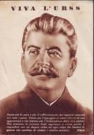 Stalin Viva L'Urss, Cartolina Anni '40/50 - Personaggi Storici
