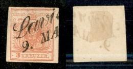 ANTICHI STATI - LOMBARDO VENETO - 1850 - 3 Kreuzer (3/I) - Usato A Lavis - Postzegels