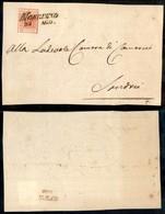 ANTICHI STATI - LOMBARDO VENETO - Morbegno (pti 5) - Lilliput - 15 Cent (3 A - Prima Tiratura) Ritagliato Lungo Il Diseg - Postzegels