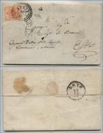 ANTICHI STATI - LOMBARDO VENETO - 15 Cent (6) - Lettera Da Adria A Este Del 26.10.1853 - Postzegels