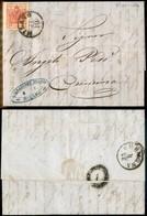 ANTICHI STATI - LOMBARDO VENETO - 15 Cent (6) - Lettera Da Milano A Cremona Del 31.10.54 - Postzegels