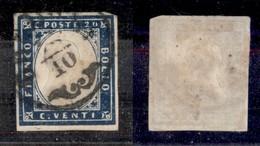ANTICHI STATI - LOMBARDO VENETO - Cremona (pti 3) - 20 Cent (15 C - Sardegna) - Usato - Postzegels