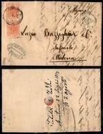 ANTICHI STATI - LOMBARDO VENETO - 15 Cent (20) - Coppia Su Lettera Da Crema A Modena Del 5.4.57 - Postzegels