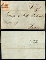 ANTICHI STATI - LOMBARDO VENETO - 15 Cent (20) - Lettera  Da Lecco A Lovere Del 28.5.57 - Postzegels