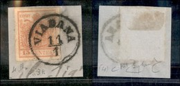 ANTICHI STATI - LOMBARDO VENETO - Viadana (pti 4) - 15 Cent (20) Usato Su Frammento - Raybaudi - Postzegels