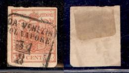 ANTICHI STATI - LOMBARDO VENETO - Da Venezia Col Vapore (pti 4) - 15 Cent (20) - Usato - Postzegels