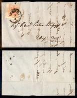 ANTICHI STATI - LOMBARDO VENETO - 15 Cent (20) Bordo Foglio A Sinistra (4mm) - Lettera Da Brescia A Orzinnovi Del 7.9.57 - Postzegels