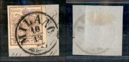 ANTICHI STATI - LOMBARDO VENETO - 30 Cent (21) Usato A Milano Su Frammento - Postzegels