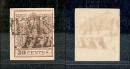 ANTICHI STATI - LOMBARDO VENETO - 1855 - 30 Cent (21 A) - Usato (35) - Postzegels