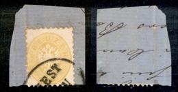 ANTICHI STATI - LOMBARDO VENETO - 1863 - 2 Kreuzer (27) Su Frammento Da Trieste - Postzegels
