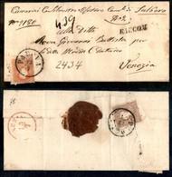 ANTICHI STATI - LOMBARDO VENETO - Raccom. (pti 6) - 5 Soldi (30 - A Cavallo Del Bordo) + 10 Soldi (26) Al Retro (rotto I - Postzegels
