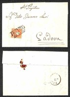 ANTICHI STATI - LOMBARDO VENETO - 5 Soldi (30) Su Lettera Da Treviso A Padova Del 15.5.59 (40) - Postzegels