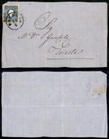 ANTICHI STATI - LOMBARDO VENETO - 15 Soldi (32) Su Frontespizio Di Lettera Da Bassano A Trieste (240+) - Postzegels