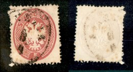 ANTICHI STATI - LOMBARDO VENETO - 1863 - 5 Soldi (38) Usato A Venezia (60) - Postzegels