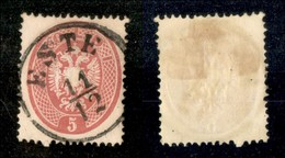ANTICHI STATI - LOMBARDO VENETO - 1863 - 5 Soldi (38) Usato A Este (60) - Postzegels