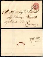 ANTICHI STATI - LOMBARDO VENETO - 5 Soldi (43 D) Con Filigrana Lettere - Lettera Da Padova A Treviso Del 10.11.65 (55) - Postzegels