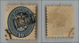ANTICHI STATI - LOMBARDO VENETO - 1864 - Racc(omandata) In Cartella - 10 Soldi Azzurro (44) - Postzegels
