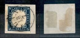 ANTICHI STATI - LOMBARDO VENETO - Governo Provvisorio - 20 Cent (C3) Usato A Milano (18.7) Su Frammento - Piega Orizzont - Postzegels