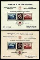 BELGIE Belgien -CSSR AS14+AS15**/ Lidické Lidice / Belgie 1945 / Ceskoslovensk / Bratislava 1937 - Czechoslovakia