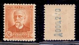 ESTERO - SPAGNA - 1931 - 50 Cent Nicolas Salmeron (625 IA) - Gomma Originale - Francobolli