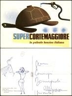 CARTOLINE - PUBBLICITARIE - SuperCortemaggiore - La Potente Benzina Italiana - Scritta Non Viaggiata - Abbrasioni Al Rec - Francobolli