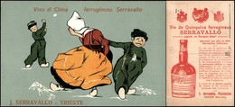 CARTOLINE - PUBBLICITARIE - Vino Di China Ferruginoso Serracavallo Trieste - Stampa In Francese Al Verso - Nuova FP - Francobolli