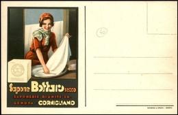 CARTOLINE - PUBBLICITARIE - Sapone Bottaro Secco - Saponerie Riunite S.A. Genova Cornigliano - Nuova FP - Francobolli