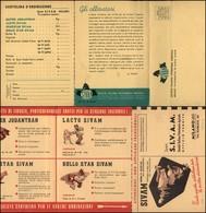 CARTOLINE - PUBBLICITARIE - SIVAM Società Italiana Veterinaria Agricola - Cartolina Tripla Per Ordini - Nuova FG - Francobolli
