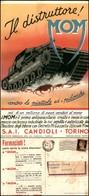 CARTOLINE - PUBBLICITARIE - MOM Il Distruttore Antiparassitario - Viaggiata FG - Francobolli