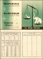 CARTOLINE - PUBBLICITARIE - Aspirina - Elmitolo - Tonico Bayer - Libretto Per Appunti Sul Peso - Francobolli