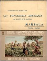 CARTOLINE - TESTATINA - Vigne E Cantine Cav. Francesco Grignano Marsala - Libretto Per Ordini - Nuovo FP - Francobolli