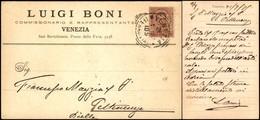 CARTOLINE - TESTATINA - Luigi Boni Venezia - Viaggiata FP - Francobolli