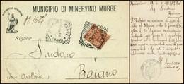 CARTOLINE - TESTATINA - Municipio Di Minervio Murge - Viaggiata FP - Francobolli