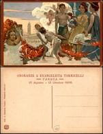 CARTOLINE - COMMEMORATIVE - Onoranze A Evangelista Torricelli - Ill. Hohenstein - Nuova FP - Francobolli